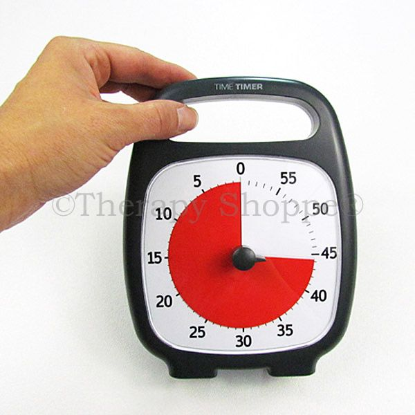 Time Timer Plus is a great organization and self-regulation classroom tool that's available from the Therapy Shoppe®