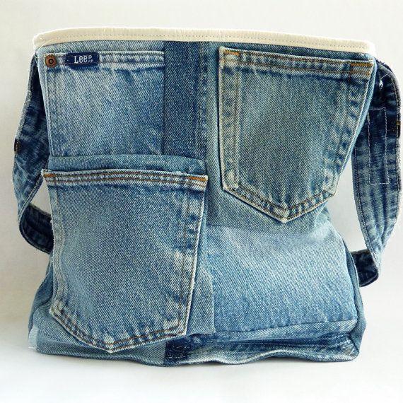 Upcycled Denim Tote Bag 003