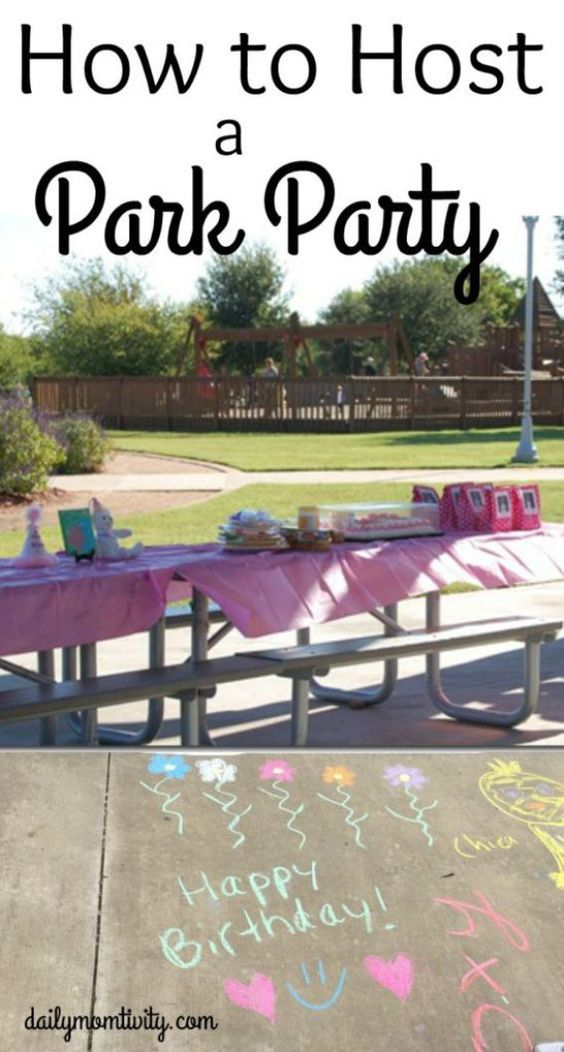 Looing for a cheap birthday party location? Try the park! It's usually free (or really cheap) and has built in fun for all ages. See all about how to host a park birthday party http://dailymomtivity.com