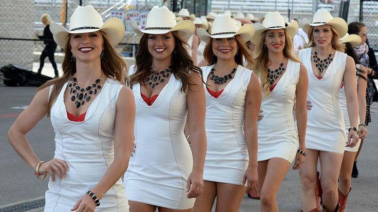 Cowgirls als Grid Girls in Texas, na klar