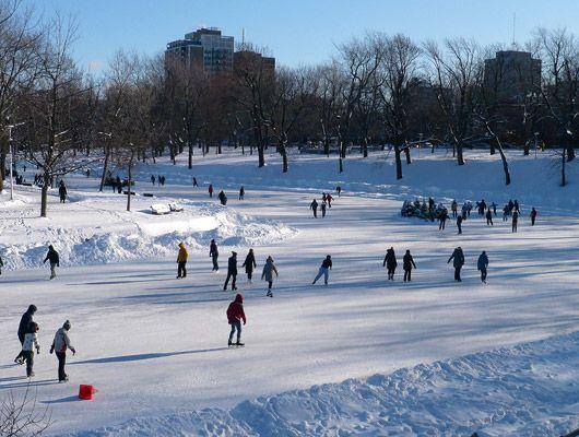 Le Parc Lafontaine, le plus bel endroit pour patiner