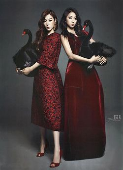 SNSD Tiffany and Sistar Bora // Harper's Bazaar Magazine January Issue '14 ★ Korean Portraiture