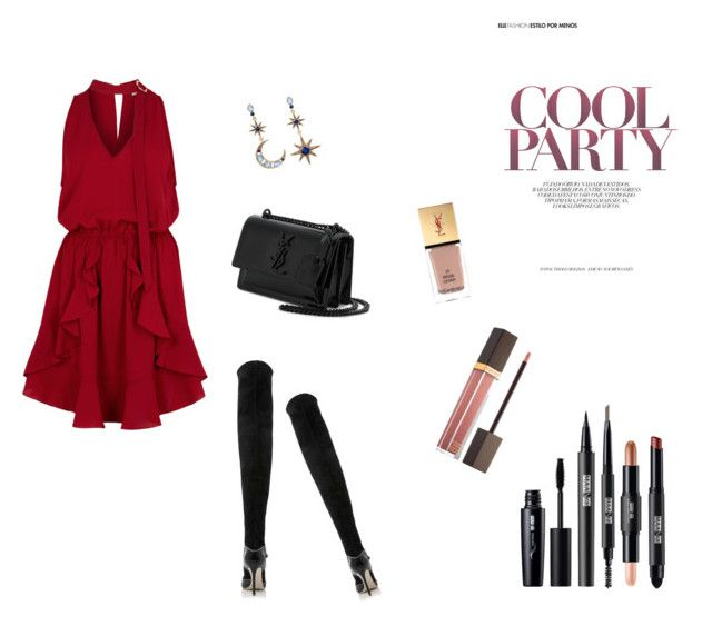 reddish by hilalozkan on Polyvore featuring moda, Finders Keepers, Malone Souliers, Yves Saint Laurent, Betsey Johnson and Tom Ford