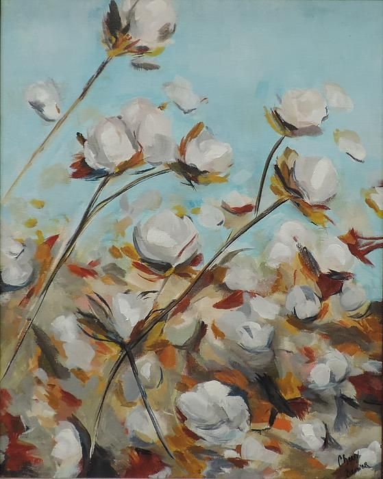 We love how the movement of cotton fields has been captured in this painting. #FeelsLikeHome