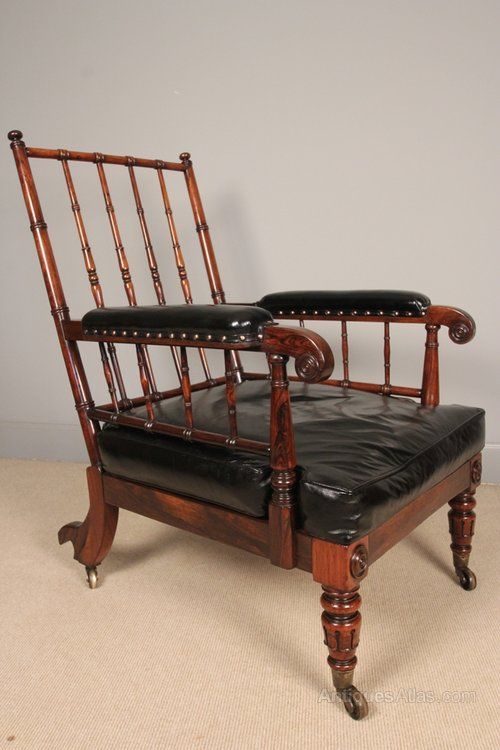 Superb Gillows Rosewood Library Chair   Antiques Atlas286 best Chairs images on Pinterest   Armchairs  Modern armchair  . Antique Library Armchairs. Home Design Ideas
