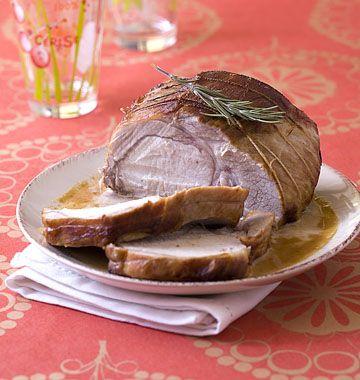 Photo de la recette : Rôti de porc sauce au camembert et au cidre