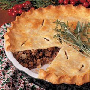 Canadian meat pie. A tourtière.