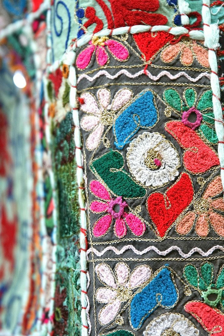 Indian Embroidered Sarees: Indian, Pakistan, Central Asia