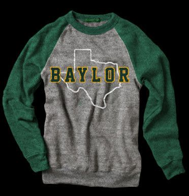 @Kelly Teske Goldsworthy Williams   This site had cute Baylor stuff--the selection of schools is very random, but Baylor is one.    BAYLOR TEXAS BEARS SWEATSHIRT STATE VINTAGE COLLEGE APPAREL   State Vintage