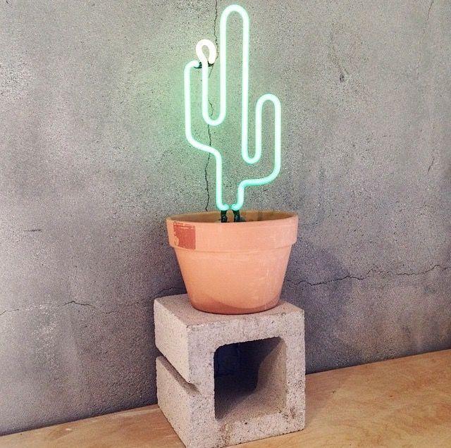 Neon Cacti. @thecoveteur