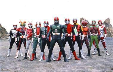 Original Kamen Riders from 1973-1989