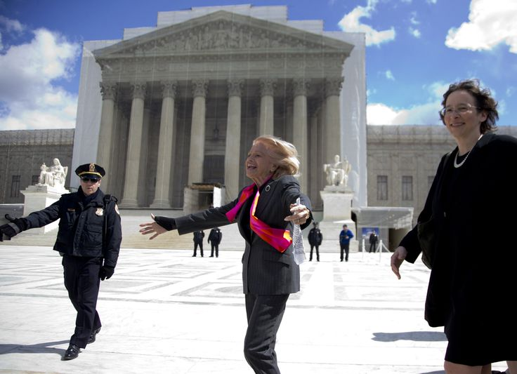 After the SCOTUS decision, June 26, 2013: DOMA plaintiff Edie Windsor, 84, who sued the federal government after the Internal Revenue Service denied her refund request for the $363,000 in federal estate taxes she paid after her spouse, Thea Spyer, died in 2009.