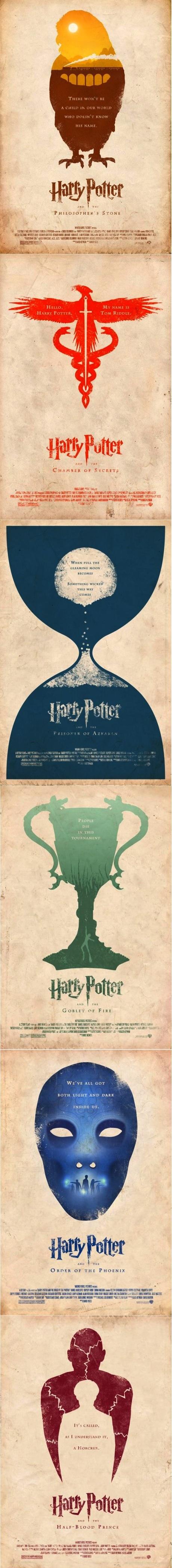 Alternative Harry Potter movie posters