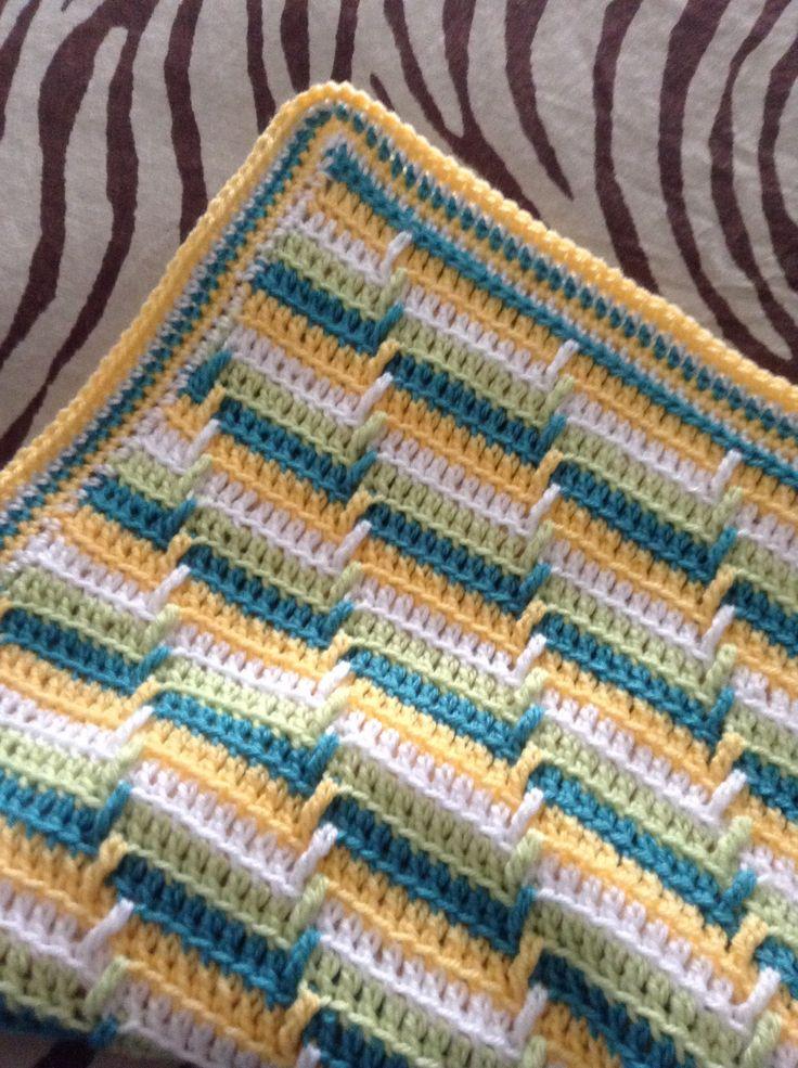 Blanket using apache tears pattern