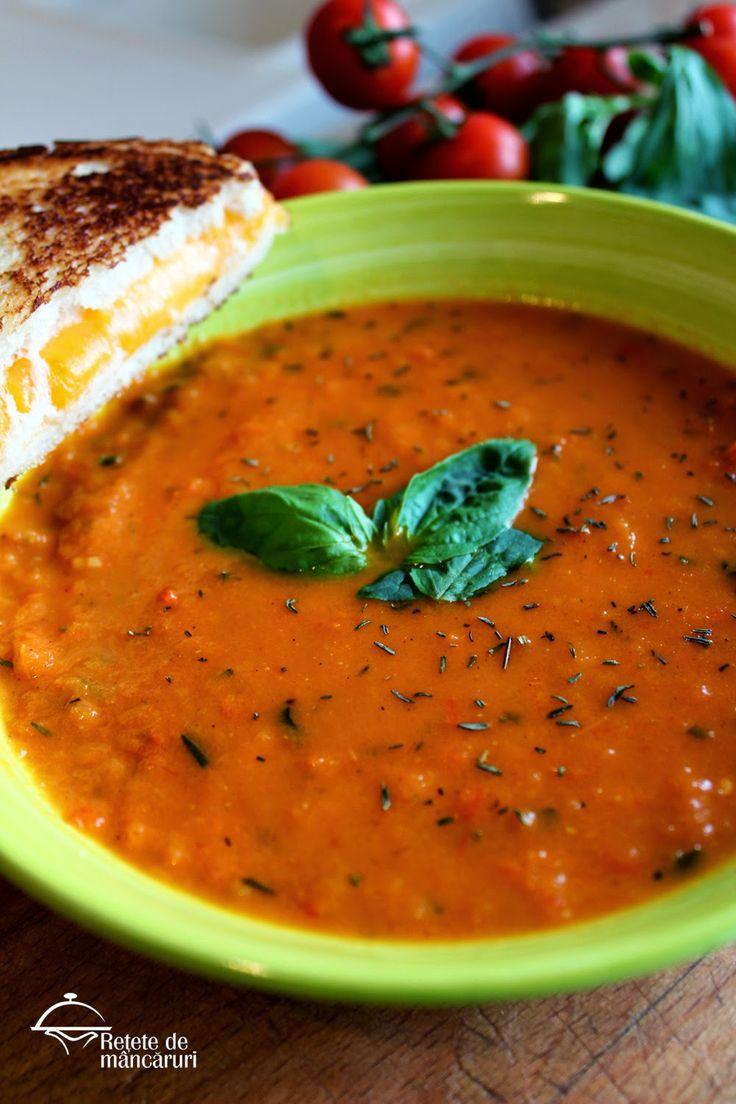 Supă de roșii cu busuioc