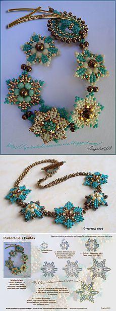 pattern for bracelet Seis Puntas | Beads Magic