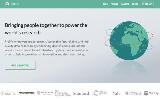 Prolific Co Zarabianie Za Udzial W Badaniach Akademickich Empowerment Mission Data Collection