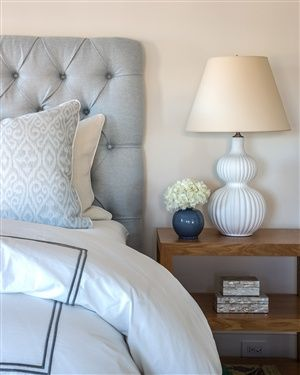 Gray-blue and white with touches of navy, so pretty and soothing