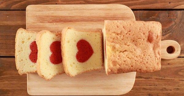 切っても切ってもハートが出てくる絶品パウンドケーキ。一体どんな仕掛けなのか動画でその謎を公開します!