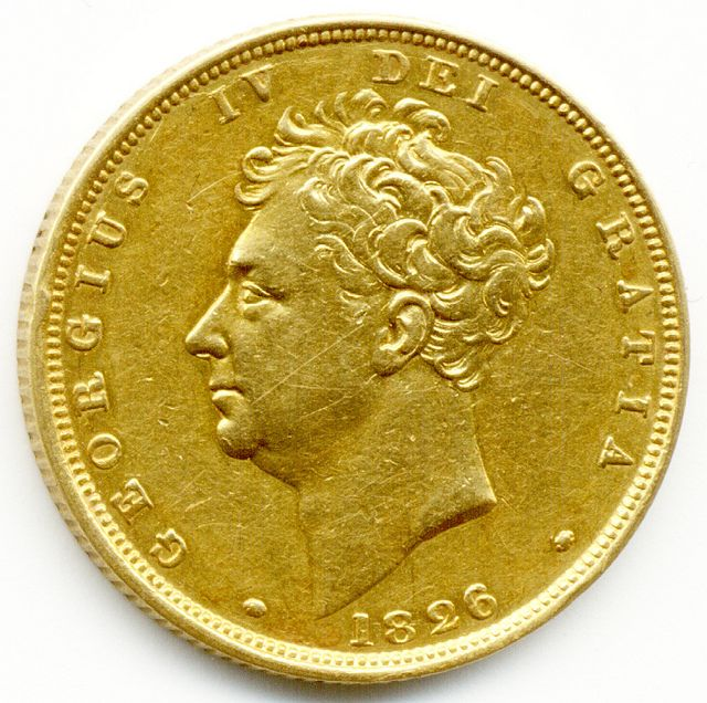 1826 King George IV Gold Full Sovereign Coin GOLD COINS FOR SALE IN LONDON 1STSOVEREIGN.CO.UK