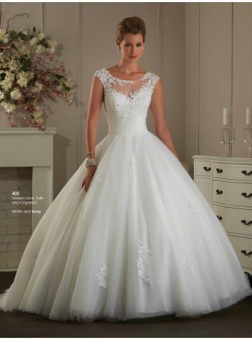 tyll ballkjole brude brudekjoler