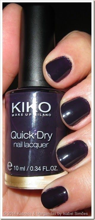 Verniz Quick Dry #829 Blueberry da KIKO