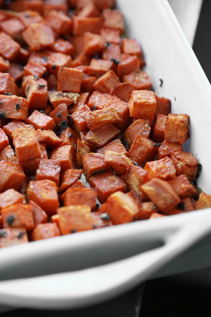 Pin for Later: You Won't Miss the Marshmallows in These Maple-Roasted Sweet Potatoes
