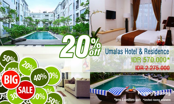 """Promo this morning is """"Umalas Hotel & Residence"""" Get special prices + discounts of up to 20% Order now and get our promo.  http://www.happyholiday.travel/hotel/bali/umalas-hotel-residence-1443"""