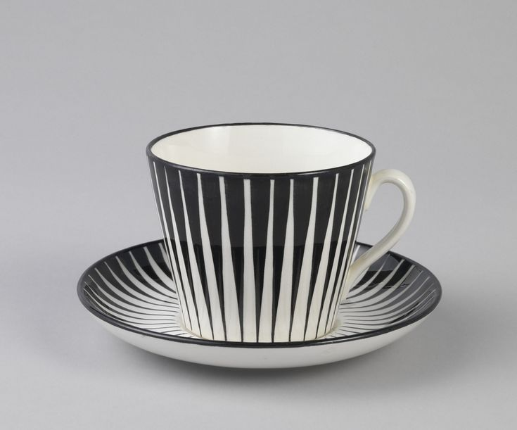 Eugen Trost, Zebra Cup And Saucer, 1955. Sweden