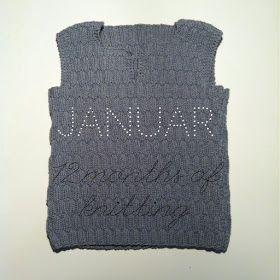 Savværksvej: Januar - 12 months of knitting.