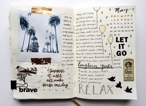 Imagen de journal, aesthetic, and art