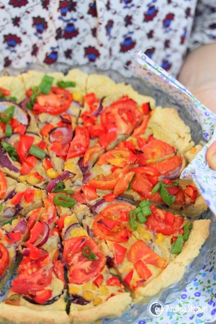 Jaglana tarta z warzywami, bezglutenowa, wegańska