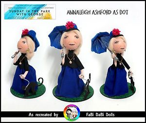 annaleigh ashford dot sunday n the park with george sondheim peg doll from fabi dabi dolls available now on our ebay store