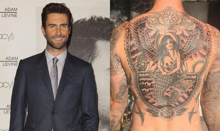 Adam Levine Reveals His Huge New Back Tattoo
