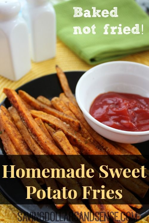 Homemade Sweet Potato Fries recipe. These are delicious and since they are baked they are practically a health food right!