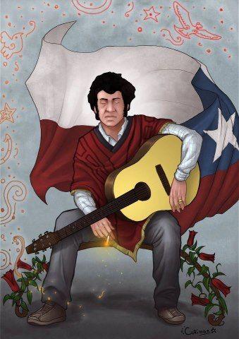 Víctor Jara foi professor, diretor de teatro, poeta, cantor, compositor, músico e ativista político chileno. Assassinado em 16 de setembro de 1973, Santiago, Chile, durante a ditadura chilena.