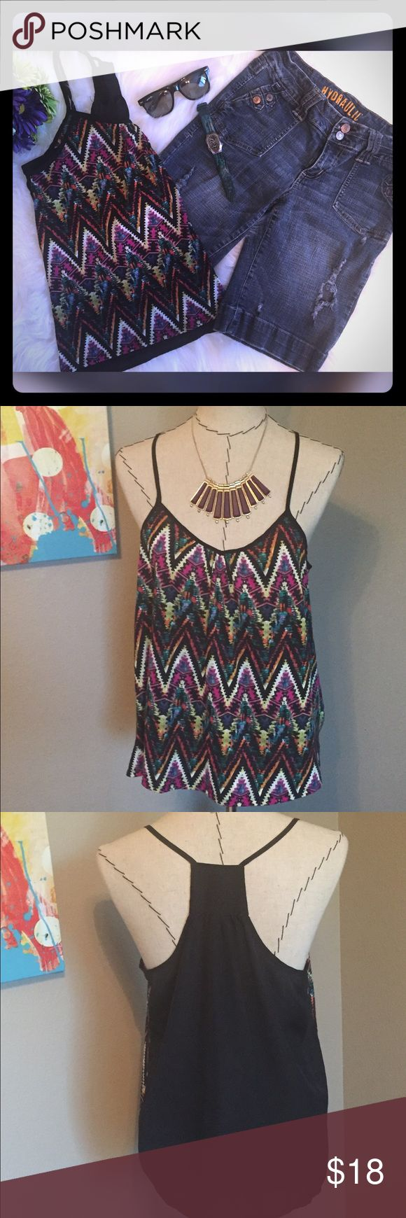 Hydraulic Denim Bermuda Shorts and Aztec Top Hydraulic Distressed Denim Bermuda Shorts and Aztec Print spaghetti strap top. Shorts Size 9/10 and top size Lg. Purchase together as set or ask for s separate listing to purchase separately. Hydraulic Shorts Bermudas