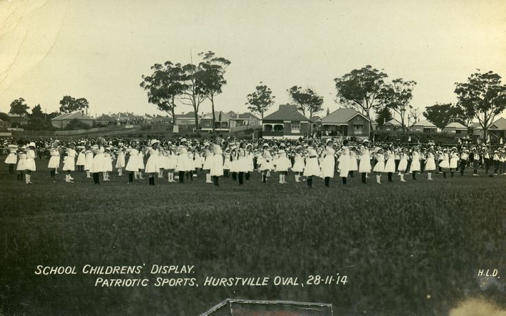 Patriotic Sports, Hurstville Oval, NSW, 28 November 1914. Image courtesy Hurstville City Library Museum & Gallery collection. More information: www.hurstville.nsw.gov.au/lmg