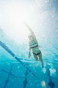 """Swimming Plan for Beginners - I've tried couch-to-5k, which I like, but this definitely starts out more intense than the running program does. So if you're literally starting from the """"couch""""... you might have to alter it to fit your beginning endurance level."""