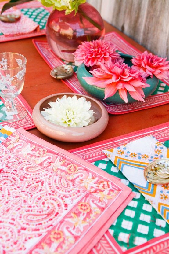 Boho Decor Bliss ⍕⋼ Bright Gypsy Color U0026 Hippie Bohemian Mixed Pattern Home  Decorating Ideas   Lotus Table