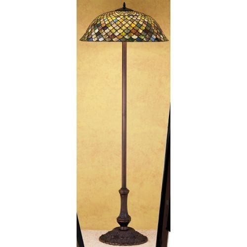 Meyda Tiffany 30456 Stained Glass / Tiffany Floor Lamp from the Tiffany Fishscale Collection, Tiffany Glass