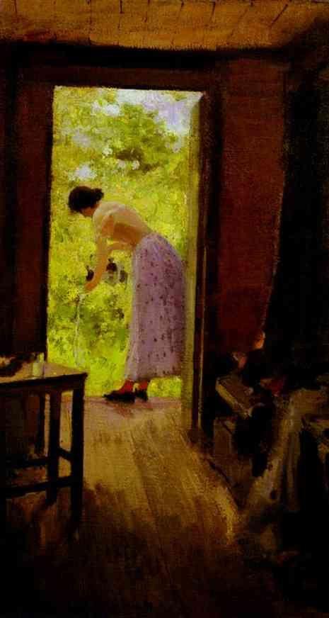 Konstantin Korovin -     In a Summer Cottage, 1895
