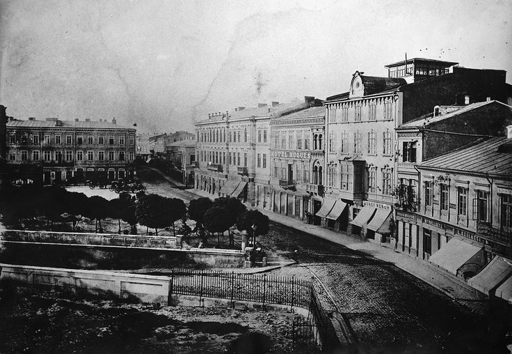 Carol Popp de Szathmary - Podul Mogosoaiei (Victoria Avenue nowadays) seen from National Theatre square (left) in 1875