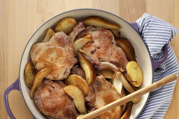 Vepřové kotlety s hruškami a jablečného moštu / USA Hrušky