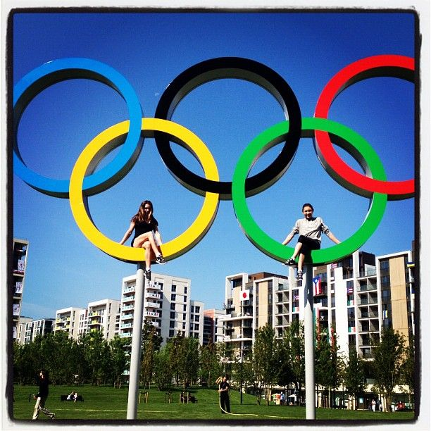 Kyla Ross & McKayla Maroney in the Olympic Rings at the Athletes Village / Photo by mckaylamaroney • Instagram