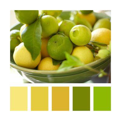 My Party design: Colour Palettes - Lemons