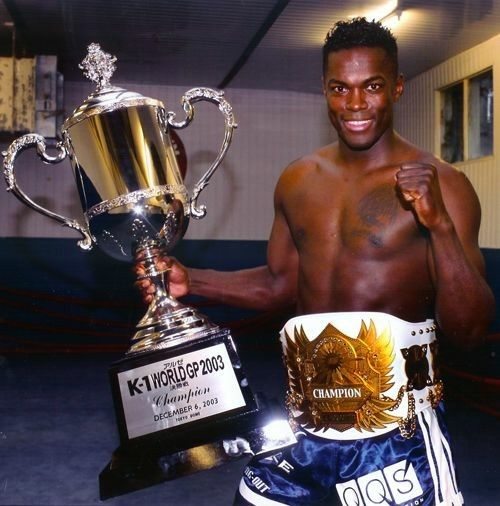 Remy Bonjasky holding K1 trophy