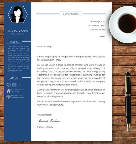 Professional Cover Letter Template made in Microsoft Word