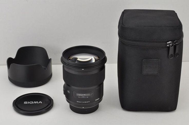 SIGMA Art 50mm F1.4 DG HSM AF Lens for Nikon F Mount with Case MINT #170802a