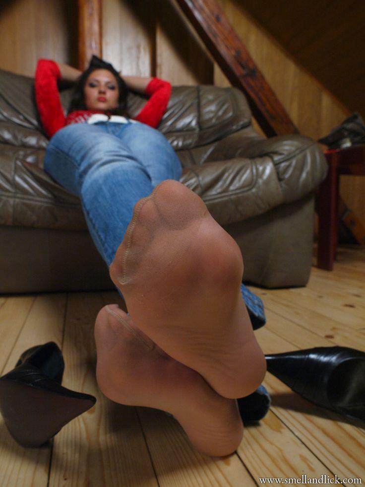 Sue nylon fetish stocking